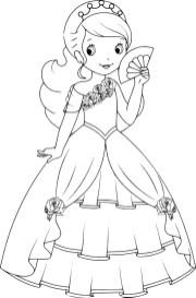 03.Раскраски для девочек распечатать бесплатно принцессы