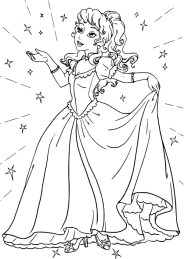 05.Раскраски для девочек распечатать бесплатно принцессы