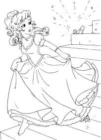 06.Раскраски для девочек распечатать бесплатно принцессы