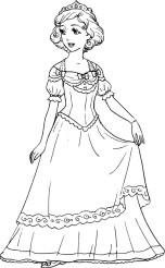 08.Раскраски для девочек распечатать бесплатно принцессы