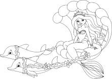 05.Раскраски для девочек распечатать бесплатно принцессы Диснея