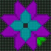 04.Рисунки по клеточкам цветы