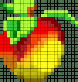 02.Рисунки по клеточкам фрукты