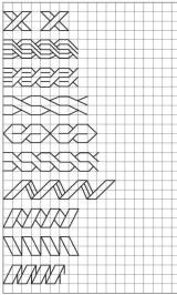 11.Как нарисовать косичку по клеточкам