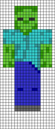 12.как нарисовать по клеточкам Майнкрафт