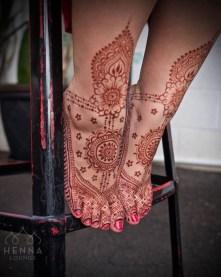 16.мехенди на ноге