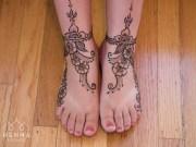 09.мехенди на ноге