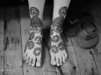 04.мехенди на ноге фото