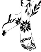 13.мехенди на ноге эскизы
