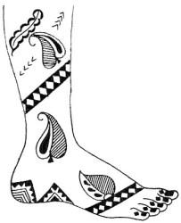 18.мехенди на ноге эскизы