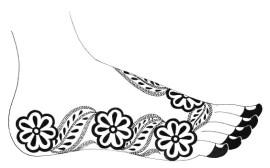 03.мехенди на ноге эскизы