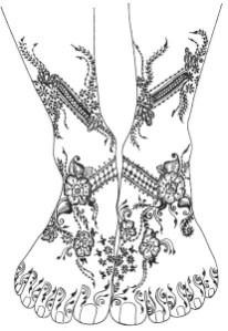 09.мехенди на ноге эскизы