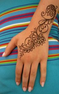 06.мехенди на руке лёгкие рисунки для начинающих