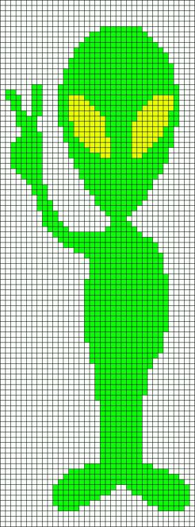 13.прикольные рисунки по клеточкам