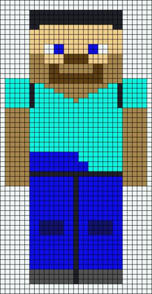 12.рисовать по клеточкам Майнкрафт