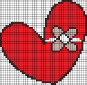20.рисунки по клеточкам сердечки