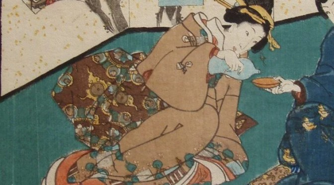 Serving Sake - 1860