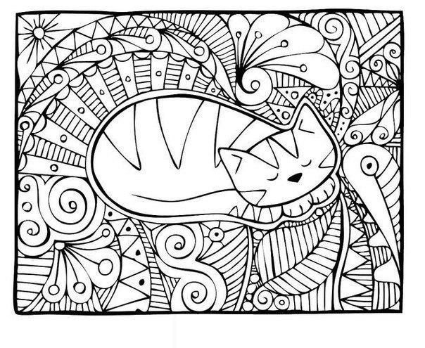 антистресс раскраски распечатать крупные цветочная арт