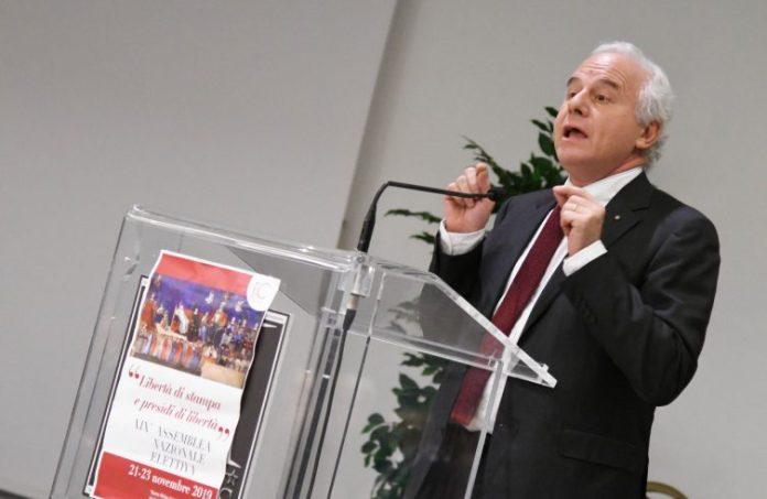 Marco Tarquinio in assemblea Fisc