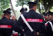 Carabinieri al lavoro (foto generica)