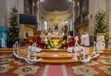 Un momento della celebrazione di domenica a Santa Maria in Porto