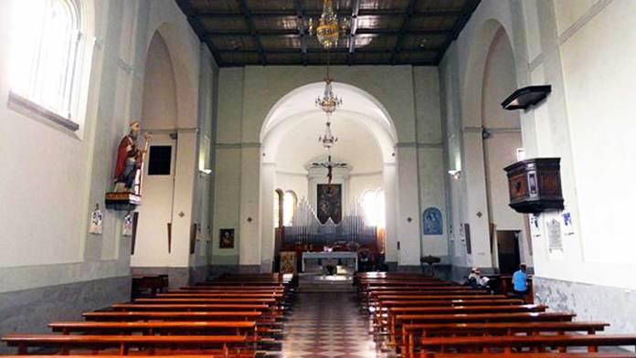 L'interno della chiesa di San Biagio