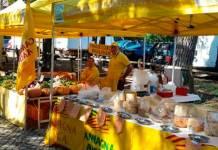 Un punto vendita di Campagna Amica, promossa da Coldiretti