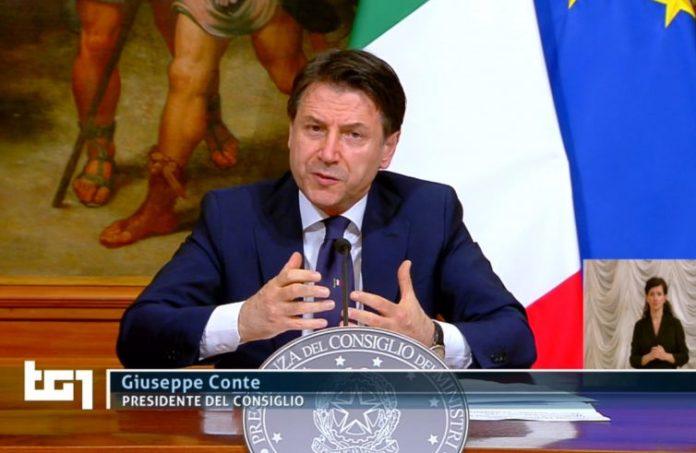 Io premier Giuseppe Conte annuncia la Fase 2 in diretta tv
