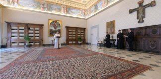 Papa Francesco nel Palazzo Apostolico