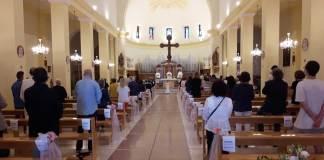 La Messa di domenica 7 giugno, celebrata dall'Arcivescovo Lorenzo ad Argenta