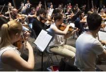 Alcuni componenti dell'Orchestra Luigi Giovanile Cherubini