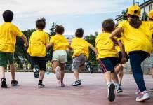 Bambini al Grest di San Paolo di alcuni anni fa