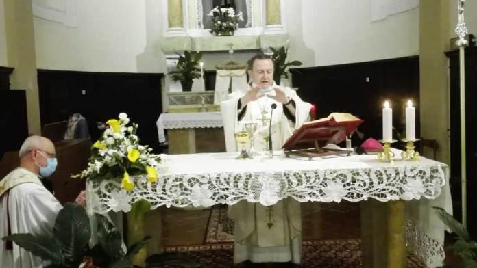 Un momento della Messa a San'Antonio di Cervia