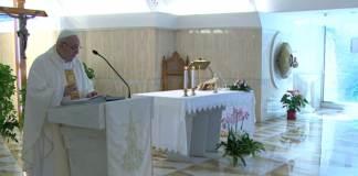 Papa Francesco durante la Messa