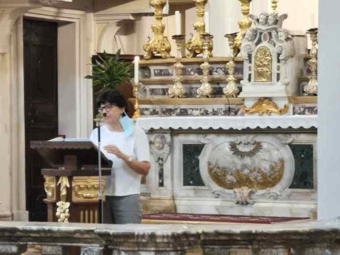 Livia Molducci durante il suo intervento