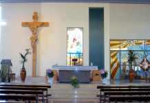 L'interno della chiesa del Santissimo Redentore