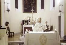 Un momento della Messa a San Michele