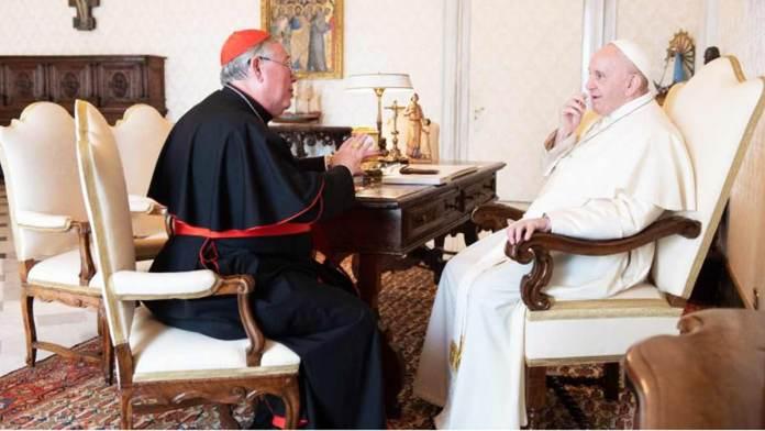 L'incontro fra Papa Francesco e il Cardinale Hollerich