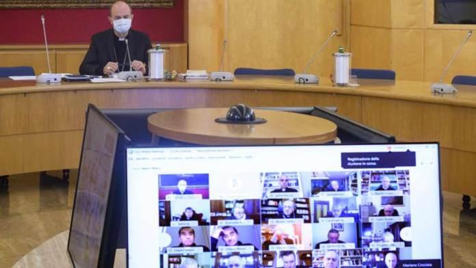 L'incontro in video conferenza del Consiglio episcopale permanente