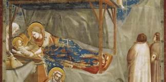 La nascita di Gesù, Giotto, (1302-1305), Cappella degli Scrovegni