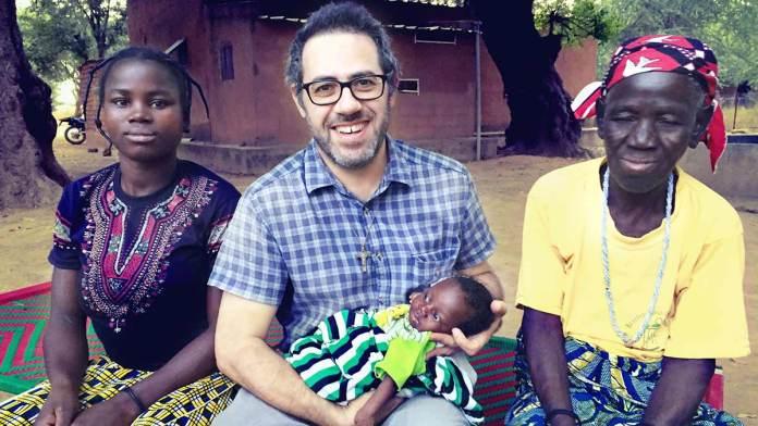 Davide Camorani nella missione di Bomoanga, in Niger