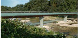 Una immagine di come sarà il nuovo ponte sul Lamone