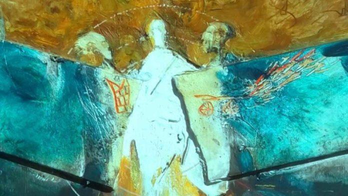 Gianni Di Lena (2000-2015) Trasfigurazione numero due collezione privata, tecnica mista (particolare)