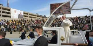 Papa Francesco durante la visita in Iraq