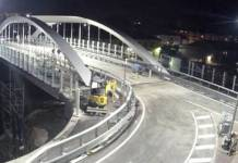 Un'immagine del nuovo ponte