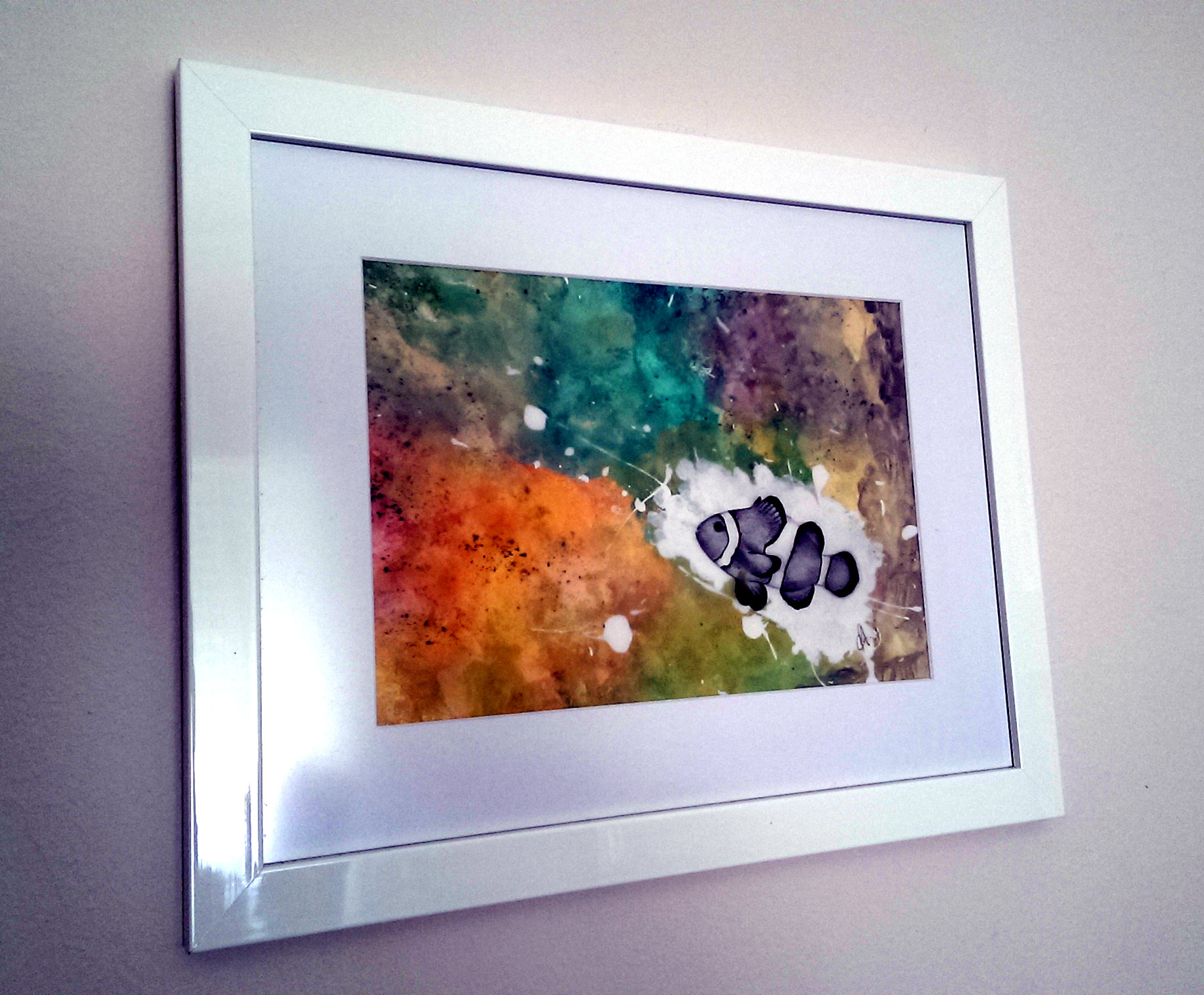 Clowns Burst Framed - Mixed Media Artwork