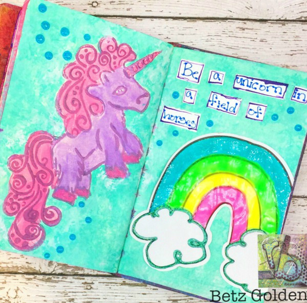 Unicorn stamp by Rita Barkat