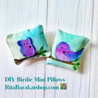DIY Birdie Mini Pillows RitaBarakatshop