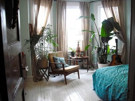 Bedroom bohemian style