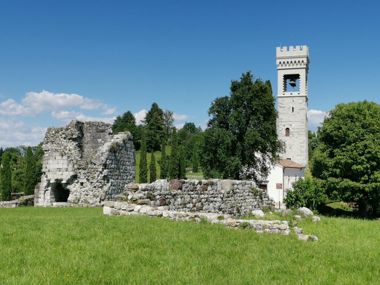 I resti del castello di Fagagna